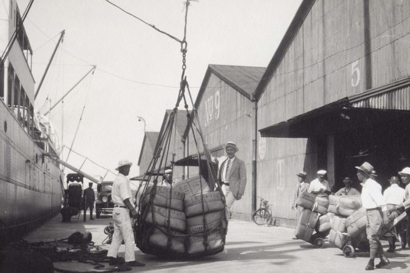 Грузовые работы в порту